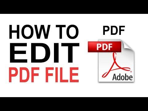 OFFLINE | How To EDIT PDF FILE In Adobe Acrobat Reader