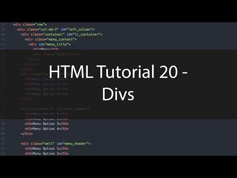 HTML Tutorial 20 - Divs