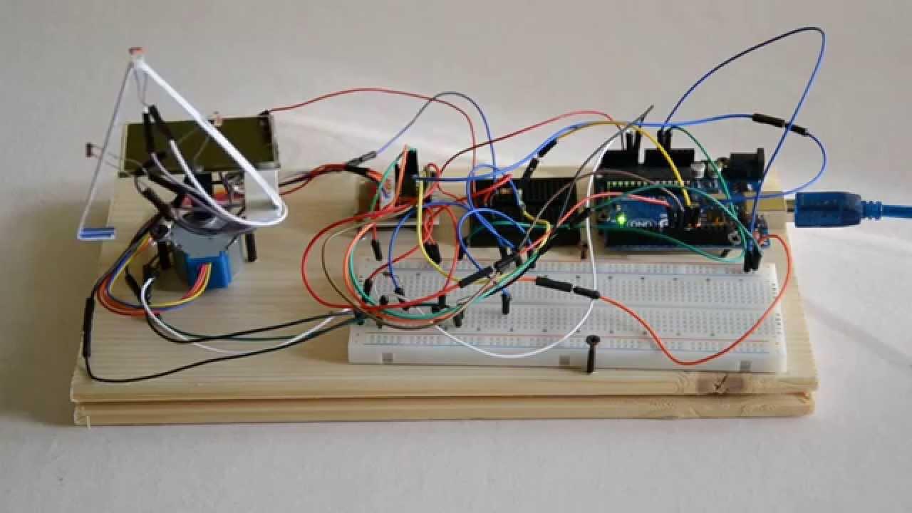 Pannello Solare Con Arduino : Inseguitore solare con arduino tesi di maturità youtube