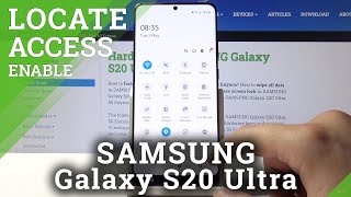 How to Turn Off Location in SAMSUNG Galaxy S20 Ultra 5G SD865– Switch Off Location Feature