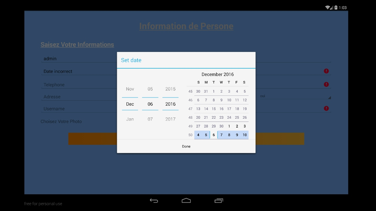 Android Tutorial - Part3 How to create calendar and save date in database  sqlite 8- calendar sqlite