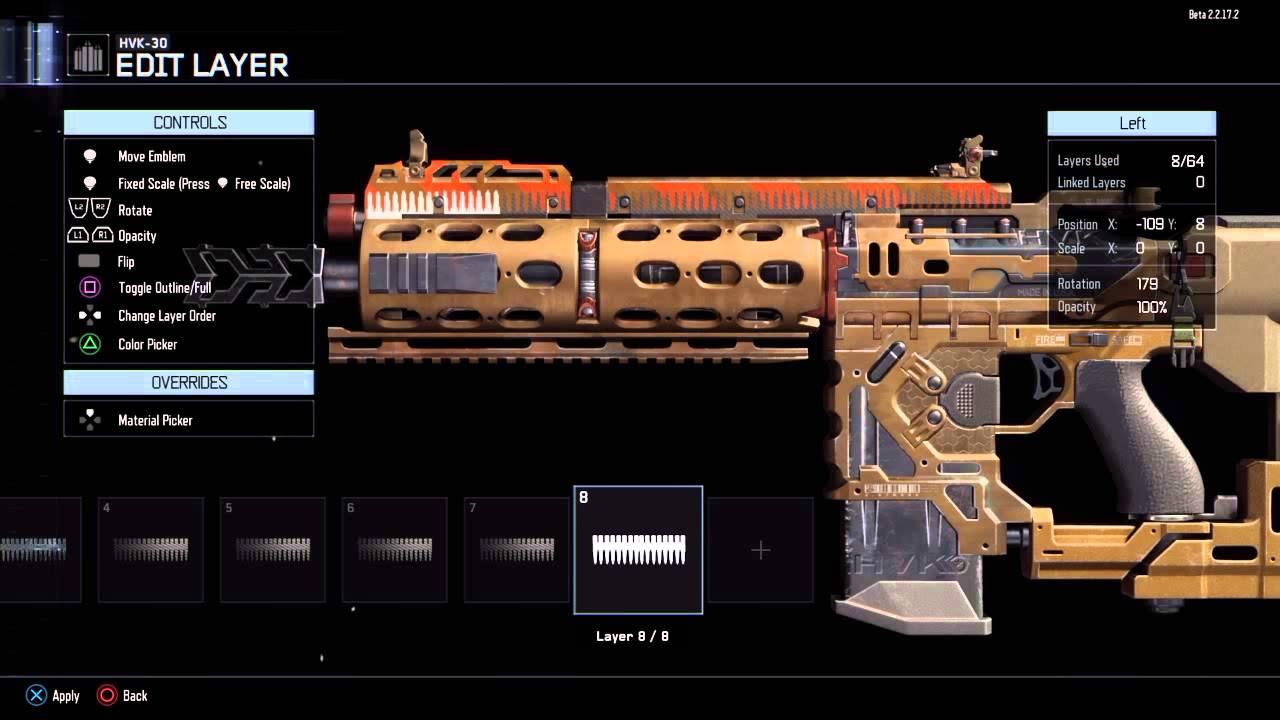 call of duty black ops iii beta hvk custom paintjob