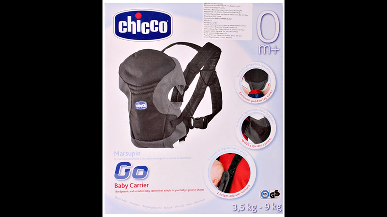 Go Baby Carrier Chicco Go 2 Way Baby Carrier Black Youtube