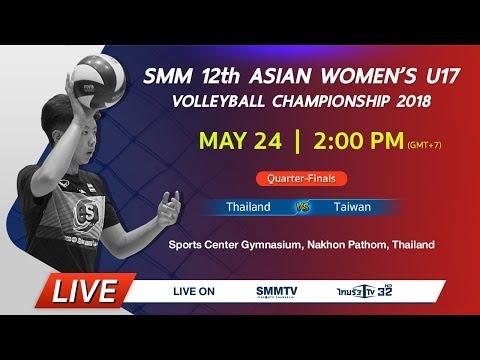 Thailand vs Taiwan | Asian Women's U17 Volleyball Championship 2018 (Thai dub)