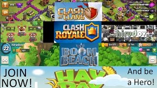 Clash of Clans | Clash Royale | Boom Beach | Hay Day | Online live Gameplay #261 [20160707]