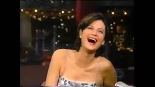 Catherine Bell on David Letterman Show 1999
