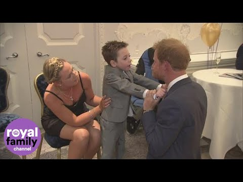 Thumbnail: Chronically ill five-year-old hugs Prince Harry at WellChild Awards