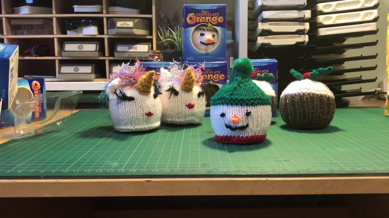 Santa Hat//Cupcake//Christmas pudding Chocolate orange cover knitting pattern
