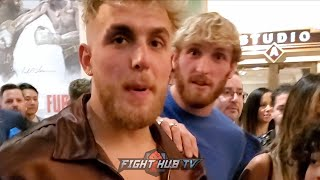 JAKE PAUL PREDICTS ONE ROUND KO OF KSI + WILDER VS. FURY 2 PREDICTIONS RIGHT BEFORE THE FIGHT