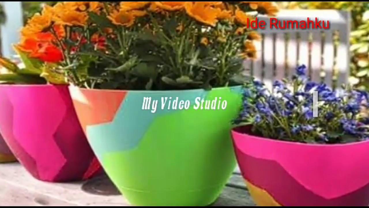 Kreatif Pot Bunga Dari Barang Bekas Mempercantik Rumahmu Youtube