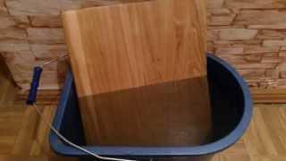Масло воск OSMO обзор и экстрим - тест на влагостойкость. Часть 1(Тест клеенного щита, покрытого масло воском OSMO артикул 3032 на влагостойкость, путем погружения в воду. Геоме..., 2015-11-15T09:33:59.000Z)