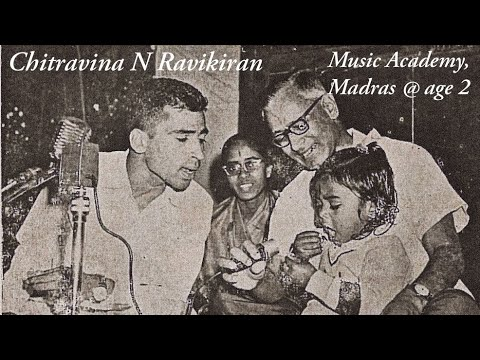 2 year old wonder | Chitravina N Ravikiran | Music Academy Madras | Historic Dec 1969