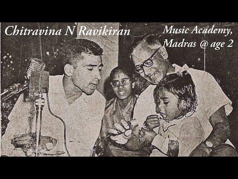 2 year old wonder   Chitravina N Ravikiran   Music Academy Madras   Historic Dec 1969