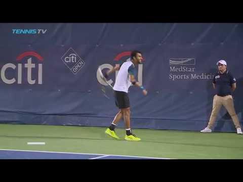 India's Yuki Bhambri dabs to celebrate another win | Citi Open Washington 2017 Day 4