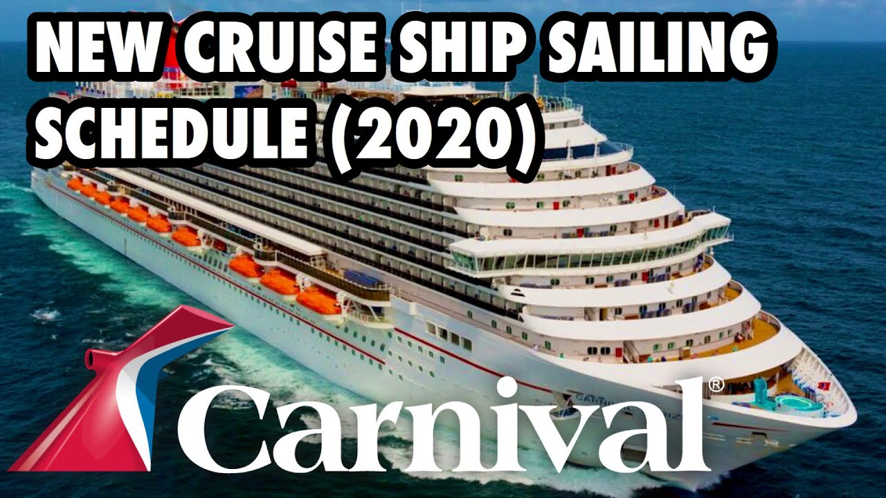 Carnival Cruise Lines North America Sailing Schedule (2020 ...