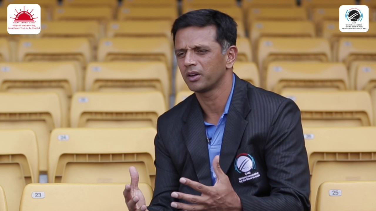 rahul dravid interview i support blind cricket do you rahul dravid interview i support blind cricket do you