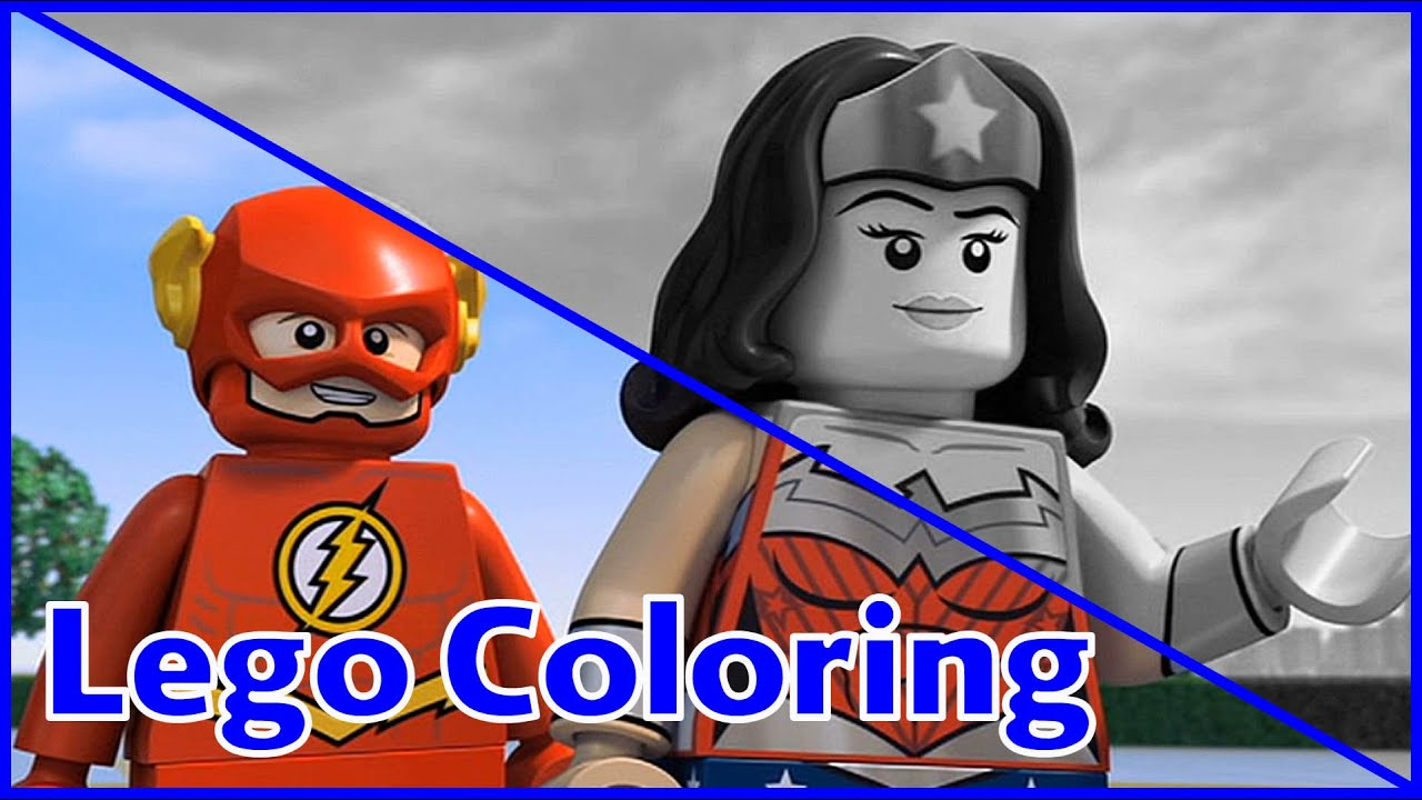 lego coloring pages wonder woman and flash lego coloring pages