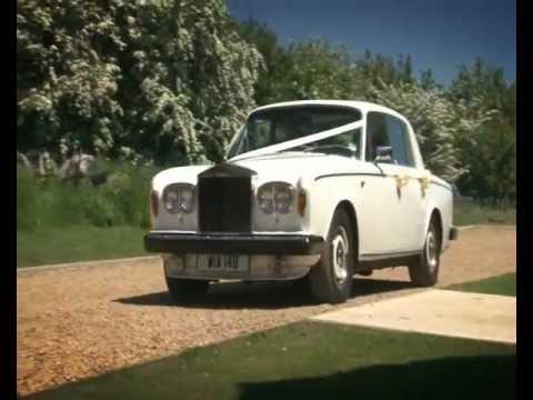White Vintage Rolls Royce Wedding Car Hire Nottingham