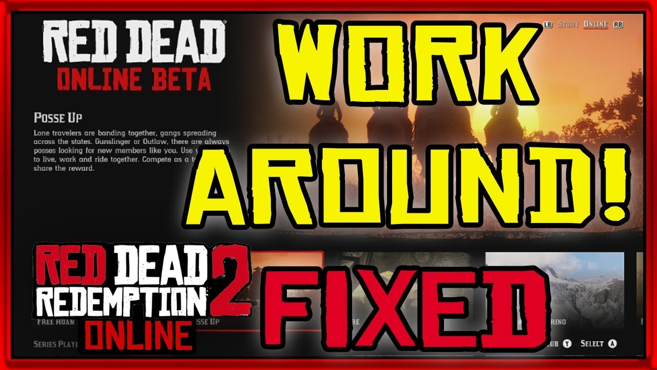 Download Rdr2 Online Workaround Broken Servers Online Bug