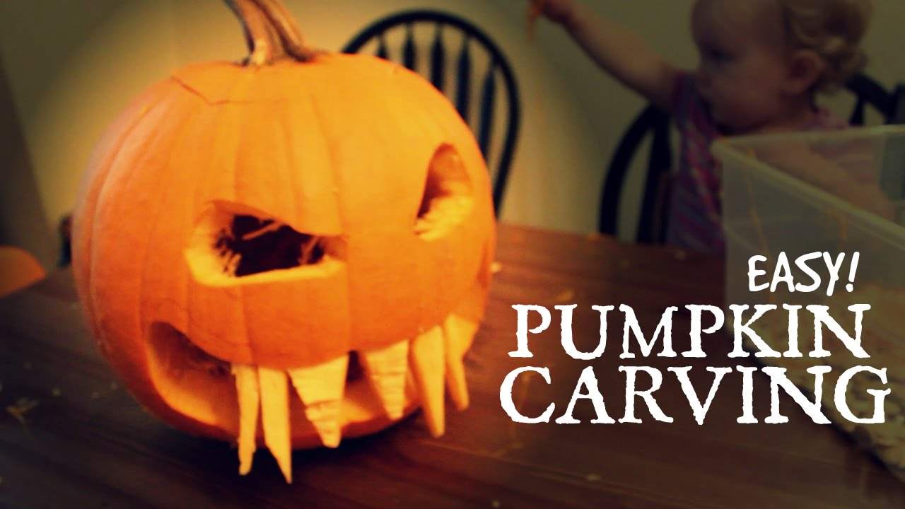 pumpkin template with fangs  Easy FANGS Pumpkin Carving | Pumpkin Competition Entry