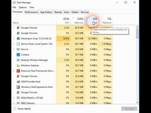 Task Manager Total utilization across all physical drives ( Disk 100