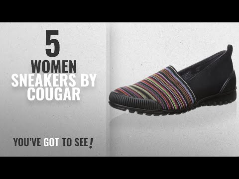 Featured Cougar Women Sneakers [2018]: Cougar Women's Sparkle Slip-On, Black Multi, 10 M US