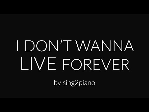 I Don't Wanna Live Forever (Piano Karaoke) ZAYN & Taylor Swift