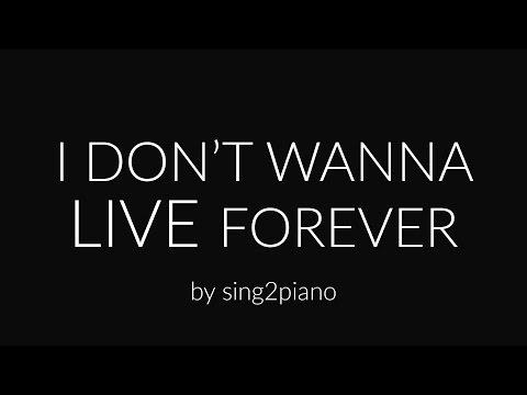 I Don't Wanna Live Forever (Piano Karaoke) ZAYN & Taylor Swift