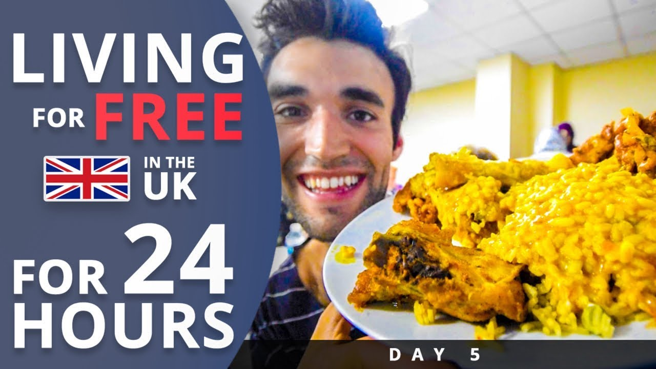 LIVING for FREE for 24 HOURS in THE UK! (Day #5)