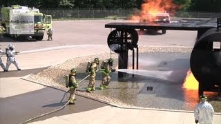 Aircraft Fire Simulation: Joint Firefighter Training - Patriot Exercise 2013