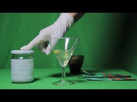 Реакция белка на спирт.