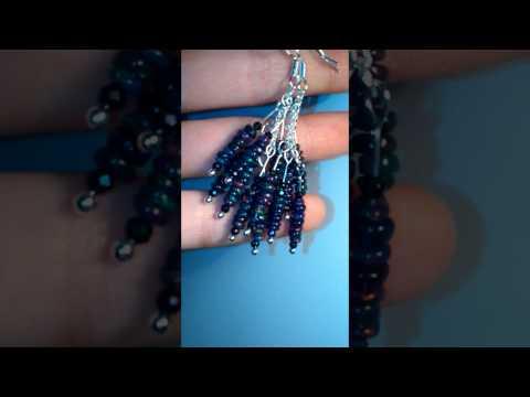 black opal earrings, video b 275 zł (US $ 69,25)