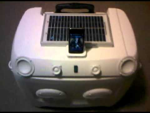 Coolerberry I Solar Powered Boombox Cooler Youtube
