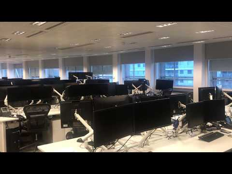 Electric office blinds