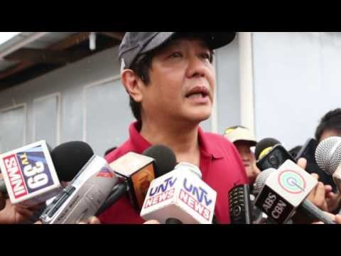 Sen. Bongbong Marcos - Media Interview during Leyte Bunkhouses inspection 13-Feb-2014