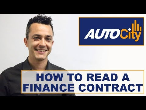 How To Read An Auto Finance Contract