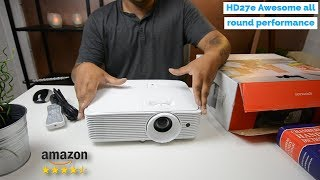 The Optoma HD27e Projector Review - Amazon Rating 4.5 Stars