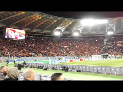 Anthem hymne - 70.000 - as roma vs. real madrid - 17.02.2016 - live