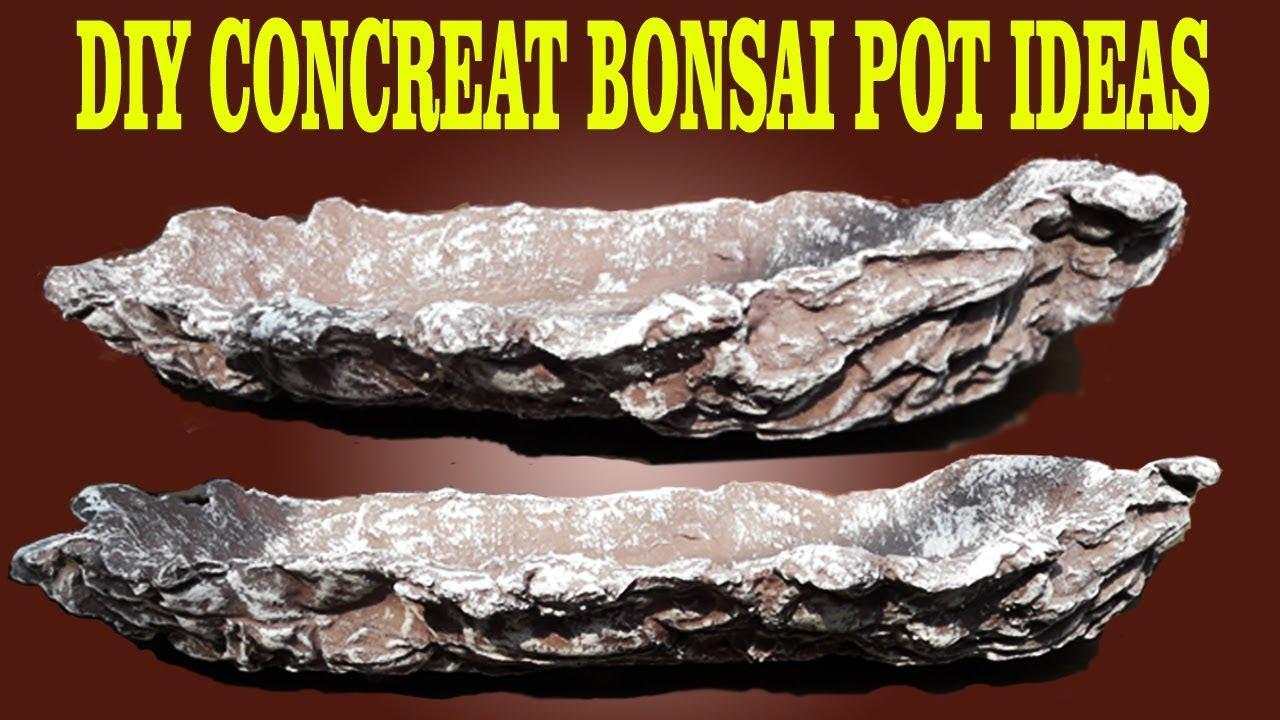 Bonsai Pot Making Ideas 3 Cement Bonsai Pot Youtube