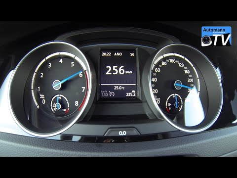 2015 Volkswagen Golf 7 R 300hp 0 257 Km H Acceleration 1080p