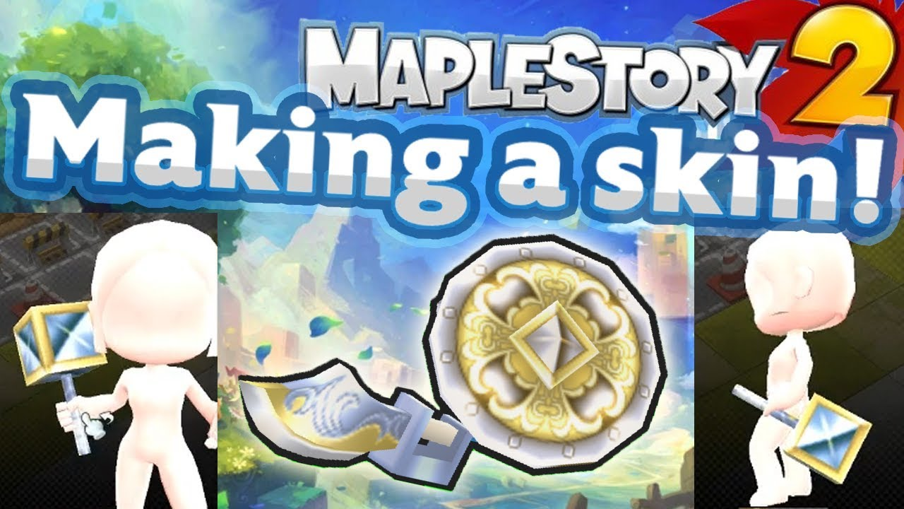 Maplestory 2 - Making a Skin! UGC (Priest's Mace)