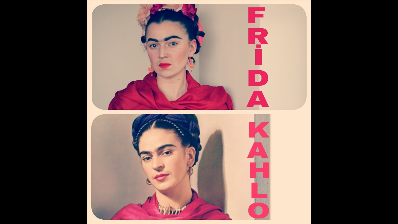frida kahlo makyaj ve sa frida kahlo transformation makeup and hair youtube. Black Bedroom Furniture Sets. Home Design Ideas