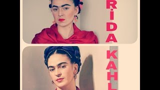 Frida Kahlo Makyaj ve Saç || Frida Kahlo Transformation Makeup and Hair