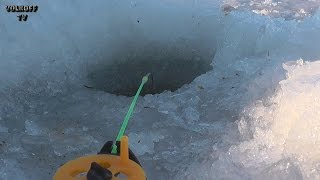 Зимняя рыбалка рыбалка со льда окунь, ёрш, чебак озеро Сунгуль Челябинская область.