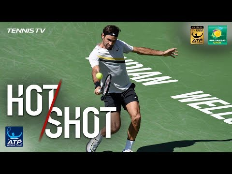 Hot Shot: Federer Digs Out Backhand Pass In Indian Wells SF 2018
