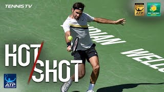 Hot Shot Federer Digs Out Backhand Pass In Indian Wells SF 2018