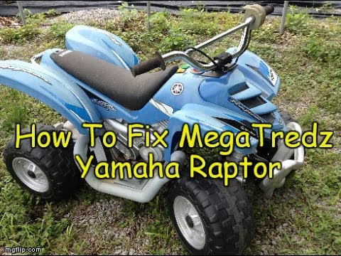 How To Fix  Repair Dumar Mega Tredz Yamaha Raptor Electric 4 Wheeler Power Wheels  YouTube
