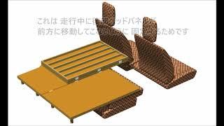 手作り 組立て式 車中泊用ベッドの 紹介 軽自動車 日産モコ