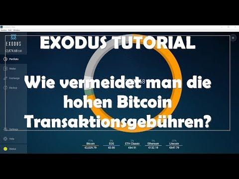 EXODUS Wallet - Avoid high bitcoin transaction fees