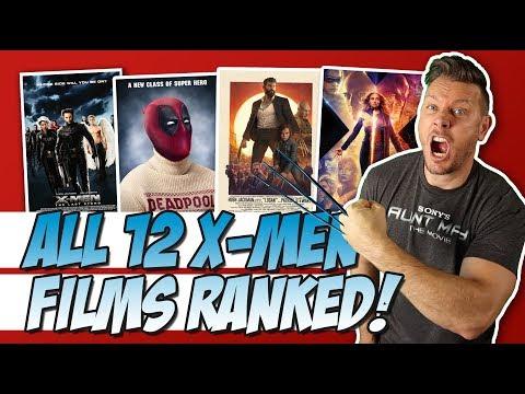 All 12 X-Men Movies Ranked!  (w/ Dark Phoenix)